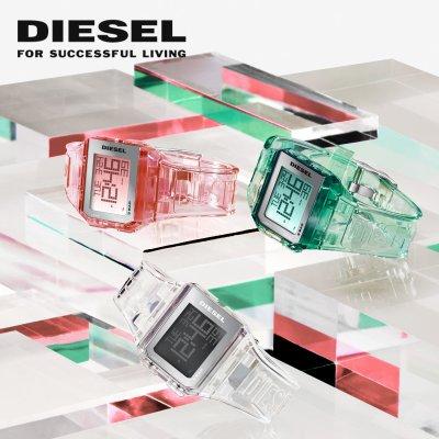 Diesel transparente Digitaluhren - Diesel transparente Digitaluhren
